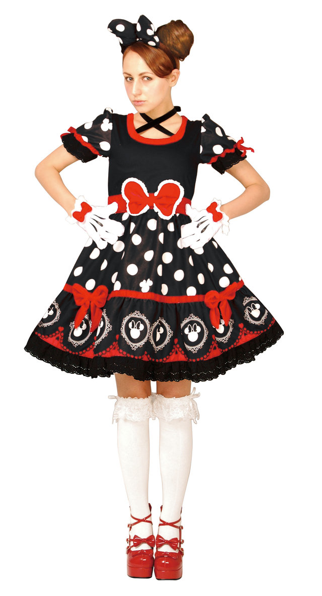 送料無料 大人 ゴシックブラックミニー レディース 女性 ディズニー 公式ライセンス 仮装 コスチューム キャラクター コスプレ ハロウィン 衣装 変装