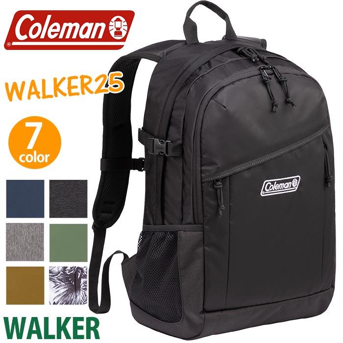<ポイント10倍> Coleman コールマン リュック walker25 ウォーカー25 リュックサック バックパック デイパック 正規品 ブラック ネイビー 25L WALKER 25