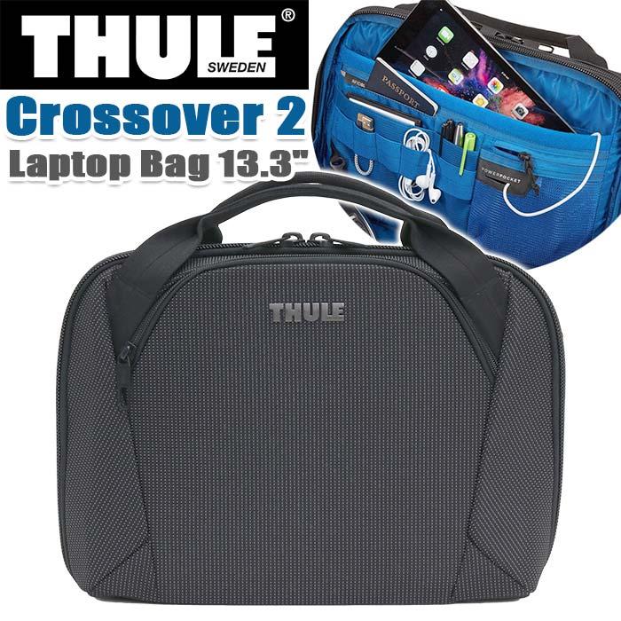 ビジネスバッグ THULE スーリー ブリーフケース 正規品 ショルダー トート 手持ち 丈夫 13.3インチ PC収納 タブレット 頑丈 丈夫 ビジネス 仕事 機能的 斜め掛け 通勤 通勤用 都会派 キャリーオン A4 Thule Crossover 2 Laptop Bag 13.3