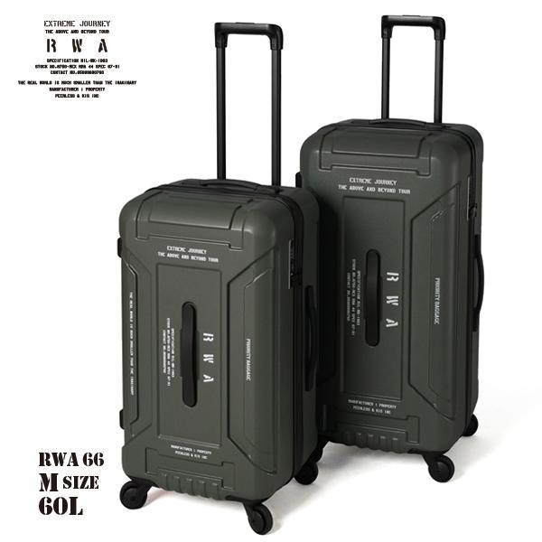 アウトドア 60L RWA66 2年間保証 送料無料 Mサイズ キャンプ ハードケース ハードキャリー ツールボックス キャリーバッグ キャリーケース スーツケース 軽量 ジッパー