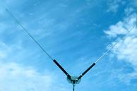 第一電波工業 (DIAMOND) HF帯(3.5~30MHz)コンパクトタイプ モータードライブV型ダイポールアンテナ (RoHS) HFV330