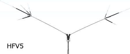 第一電波工業(DIAMOND) 7/14/21/28/50MHz帯短縮V型ダイポールアンテナ HFV5(HFV-5)