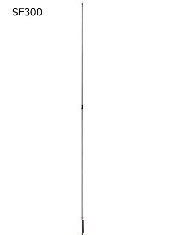 第一電波工業(DIAMOND) 144/430MHz帯マリン基地局用高利得ノンラジアルアンテナ (レピーター対応型) グラスファイバー製 (2分割) SE300(SE-300)