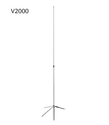第一電波工業(DIAMOND) 50/144/430MHz帯高利得3バンドグランドプレーンアンテナ (レピーター対応型) グラスファイバー製 (2分割式) V-2000(V2000)