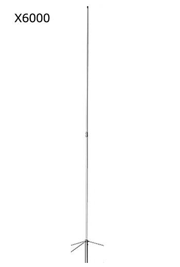 第一電波工業(DIAMOND) 144/430/1200MHz帯高利得3バンドグランドプレーンアンテナ (レピーター対応型) グラスファイバー製 (2分割式) X6000(X-6000)