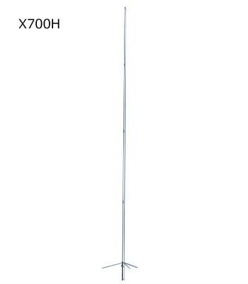 第一電波工業(DIAMOND) 144/430MHz帯高利得2バンドグランドプレーンアンテナ (レピーター対応型) グラスファイバー製 (4分割式) X700H