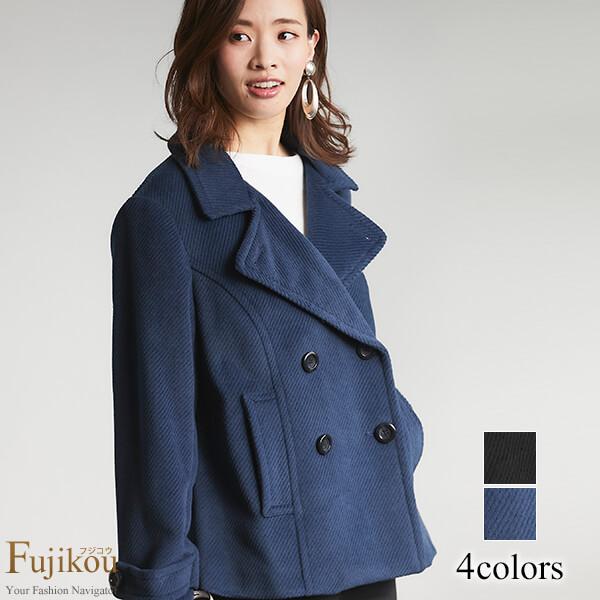 Pコートピーコートアウターコートレディースミセス通勤カジュアル大きいサイズファッションミセスファッション40代