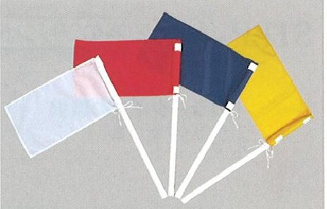 水球用品 セクレタリーセット(旗白・赤・紺・黄)