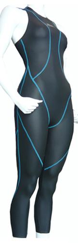 ラバー水着 ハマスポ 女子フルスーツ ブルー糸 サイズ 定休日を除く数量限定即日出荷