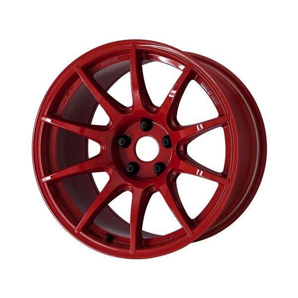 タイヤ ホイール 4本セット 245/40R18 ワーク M・C・O Racing TYPECS 10.00-18 114.3-5H TOYO プロクセスR1R スカイライン GT-R RED