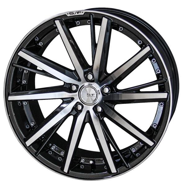 タイヤ ホイール 4本セット 205/40R17 共豊 シュタイナー SF-V 7.00-17 100-5H 特選輸入タイヤ 170系 シエンタ エメラルドブラックポリッシュ