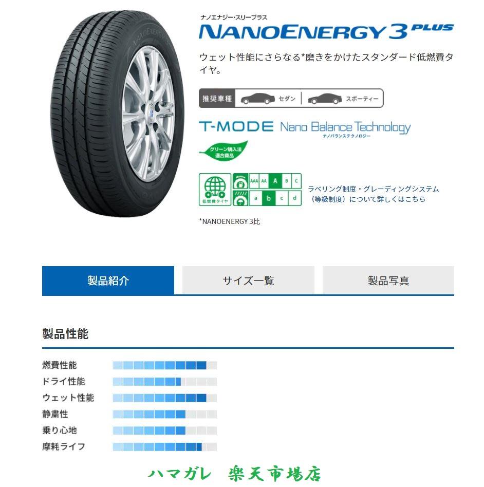 ウェット性能にさらなる 磨きをかけたスタンダード低燃費タイヤ サマータイヤ TOYO TIRES 100%品質保証! NANOENERGY3 トーヨー ナノエナジー スリープラス 165 65R15 81S 4本セット 上品