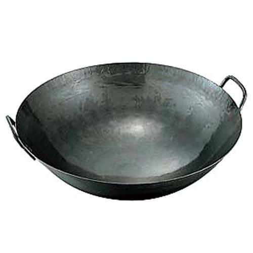 【業務用】【中華鍋】鉄 打出中華鍋(取手溶接) 45cm 板厚:1.2mm 直径450x130【グループN】
