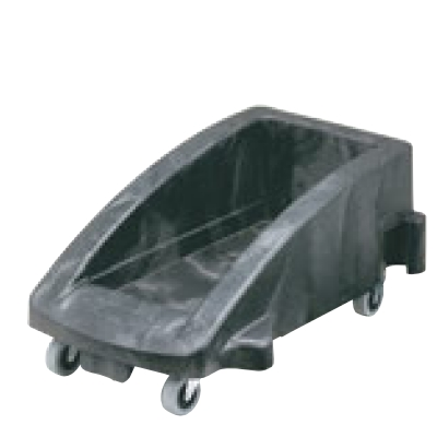 ダストボックス スリムジムトロリー(3541用ドーリー)3551-88 ブラック/595×381×H275//業務用/新品/送料無料 /テンポス