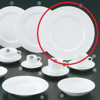 プレート 【軽量薄型 アルセラム強化食器 31cmプレート EC11-1】 EC11-1 高さ30 直径:310 【業務用】【送料別】