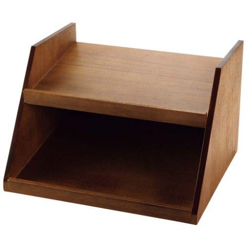 木製 オーガナイザーボックス用スタンド 2段3列 茶/業務用/新品/送料無料