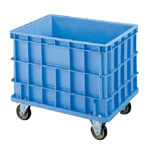 セキスイ ボックスコンテナー S-200 キャスター付・底栓付 ブルー 幅820×奥行595×高さ685(mm)/業務用/新品/送料無料 /テンポス