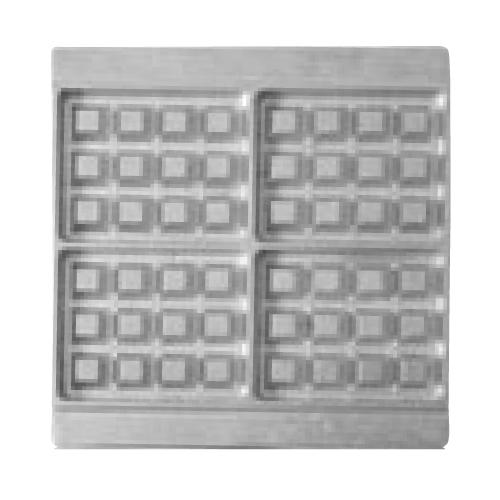 マルチベーカー MAX用プレート ベルギーワッフル長角型4個取 2枚組 BWS0401 /業務用/新品/送料無料