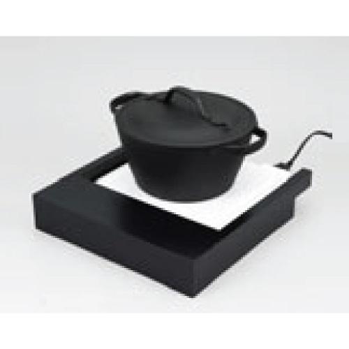 EBM IH調理器用木枠 黒 幅350×奥行380×高さ65(mm)/業務用/新品