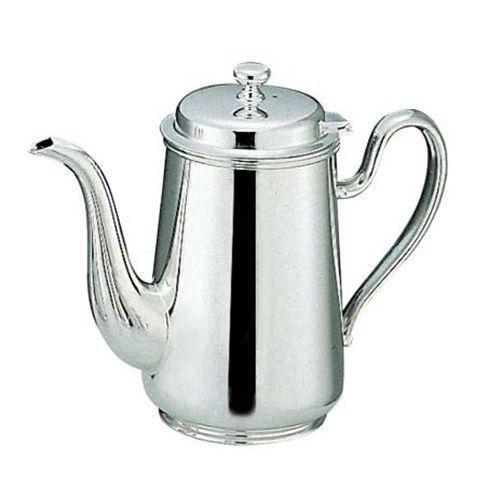 【H 洋白 ウエスタン型 コーヒーポット 2人用 二種メッキ】 高さ139(mm)【業務用】【グループA】