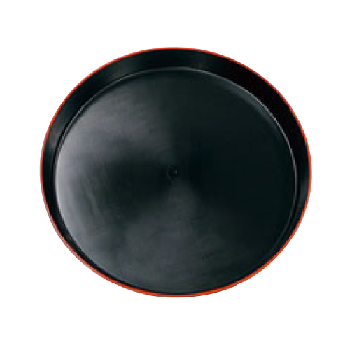 【市松 プラ容器 黒赤フチ 50(5枚入)本体】 高さ54(mm)【業務用】【グループA】
