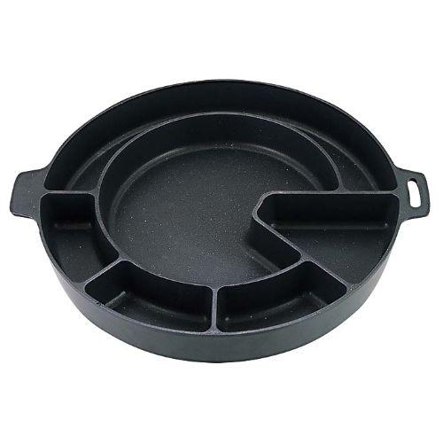 ダッカルビ鍋 変形仕切 直火用 内径235×外径342×深さ45 /プロ用/新品