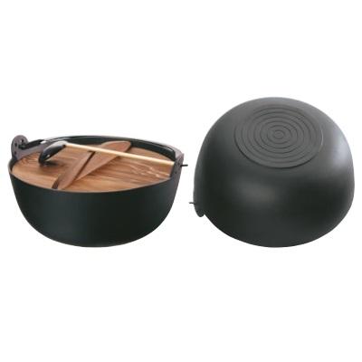 田舎鍋【五進 鉄 電磁対応型 ジャンボ 田舎鍋 45cm(E-45)】【業務用】【送料無料】