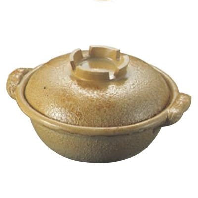 土鍋【アルミ 電磁調理器用 土鍋 24cm 幸楽色】【業務用】【送料無料】
