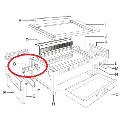 【EBM 遠赤串焼器 640型用 バーナー】 EBM 640型 【業務用】【グループA】