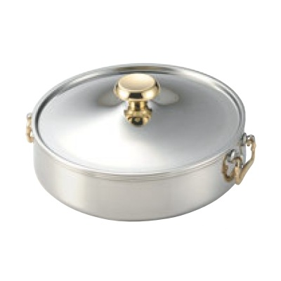 しゃぶしゃぶ鍋ニュー電磁 チリシャブ鍋 27cm SUS444 外径:280、内径:270、底径:250、板厚:0.8、深さ:74/業務用/新品