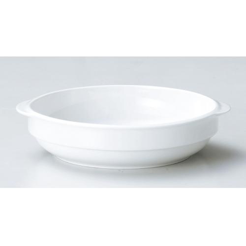 【ダイヤセラム(強化)】【スタック グラタンL】【グラタン皿】【Dia Ceram White I】 【10個入】【業務用】【グループB】