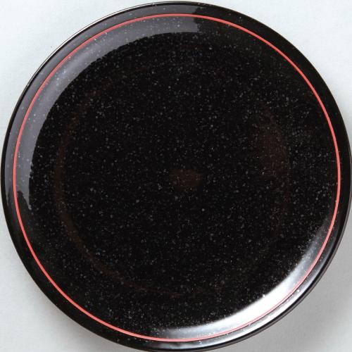 【黒御影赤ライン 26cm皿 10枚入 】【業務用】 【グループB】