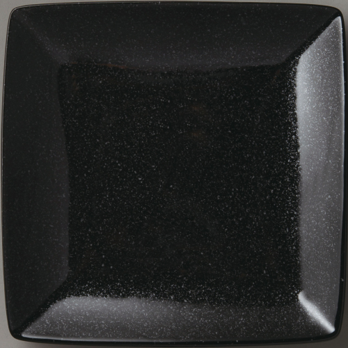 角皿 【水明 正角25cm黒御影】 6-96-19 幅250mm×奥行250mm×高さ30mm 10枚入【業務用】