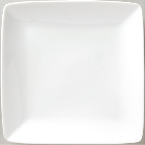 角皿 【水明 白 25cm正角皿】 6-94-19 幅250mm×奥行250mm×高さ30mm 10枚入【業務用】