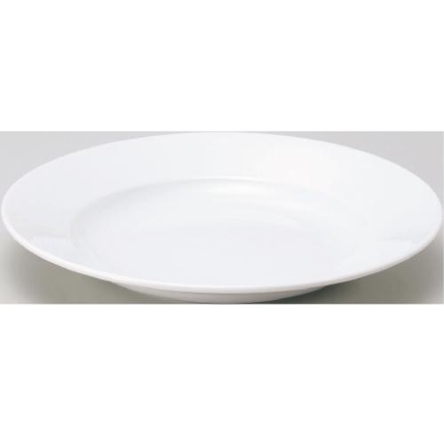【ベーシック ホワイト リム玉 28cm 深皿】【プレート】【Basic】 【10枚入】【業務用食器】【グループB】