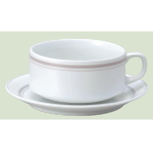 【ダイヤセラム(強化)】【パーチメント スタック スープ碗皿】【カップ&ソーサー】【Dia Ceram Perchment】 【10個入】