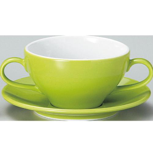 【ユーラシア ブイヨン碗皿 緑】【カップ&ソーサー】【Eurasia】 【10個入】【業務用】【グループB】