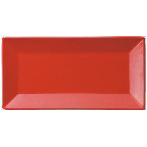 【長角皿 L 赤】【プレート】 【Basic】 【10枚入】【洋食器】【業務用】 /テンポス