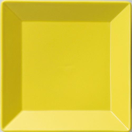 皿 【正角皿18cm黄】 6-68-6 幅178mm×奥行178mm×高さ26mm 10枚入【業務用】【グループB】