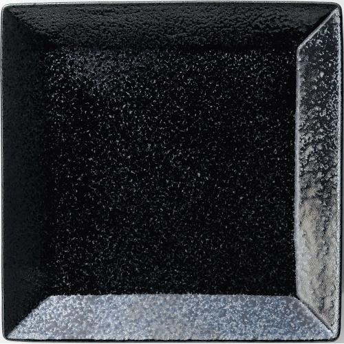 スクエア カラー メーカー直売 正角皿23cm 黒耀 高さ2.6 業務用 mm 正規激安