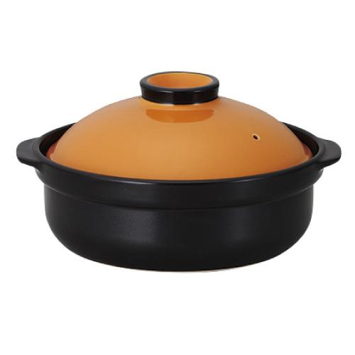 宴 オレンジ/ブラック 10号鍋 IH対応 /業務用/洋食器