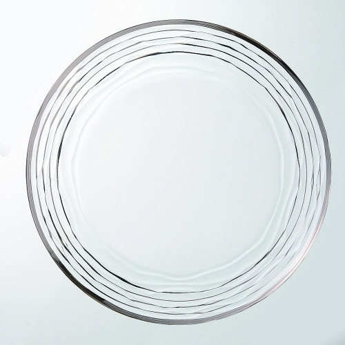 ガラスプレート 【オアシ プレート28 プラチナ】 28 6入【業務用】