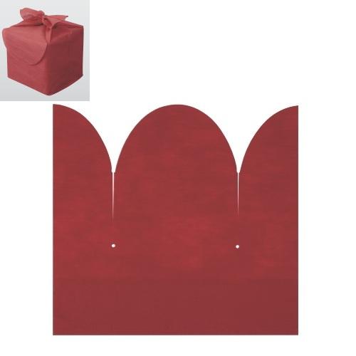 おせち 重箱袋 【お重用結び袋花結び赤(100枚入) 7.5寸用】巾500×高さ470×G115【業務用】
