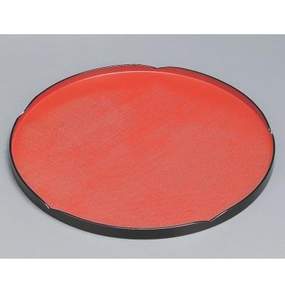 丸盆 輪華布目丸盆朱漆塗尺2 高さ18 直径:360/業務用/新品