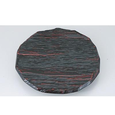 盛皿 9.5寸東尋坊丸とんかつ皿曙漆塗 高さ48 直径:290 /業務用/新品