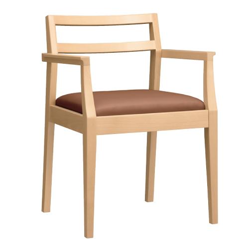 【伊東 1 N アーム椅子 Aランク 】 木製イス 幅520×奥行470×高さ730(mm)【業務用】【新品】【送料無料】