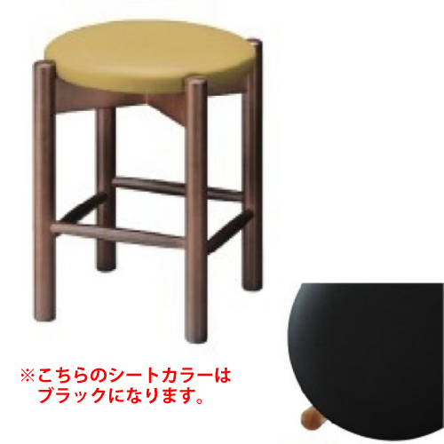 若草 エスニック 若草D椅子 (シート/ブラックレザー)【業務用】【送料無料】