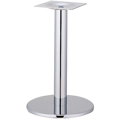 プロシード(丸二金属) テーブル脚 TABLE LEG 丸ベース AT122-A ベース400φ ポール76φ 受座角240(mm) 業務用 送料無料