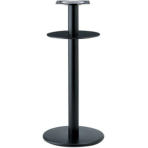 プロシード(丸二金属) テーブル脚 TABLE LEG ハイテーブル用 AT253-A ベース400φ ポール76φ 受座角240 棚板390φ 業務用 送料無料