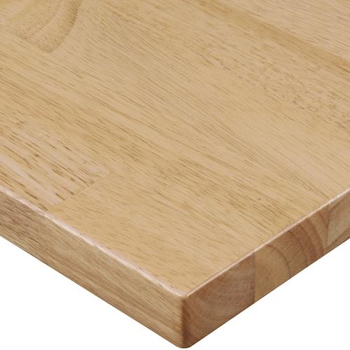 プロシード(丸二金属) テーブル天板 ラバーウッド集成材 ST906-NA-N 幅600×奥行750×高さ28(mm) 業務用 送料無料